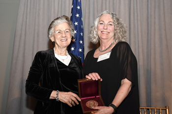 Image of Colwell and Chandler with Award Metal