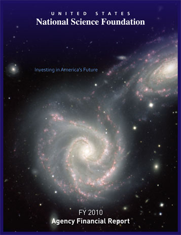 National Science Foundation FY 2010 Annual Financial Report Cover