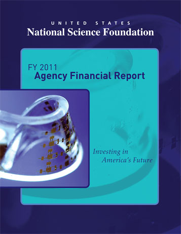 National Science Foundation FY 2011 Agency Financial Report Cover