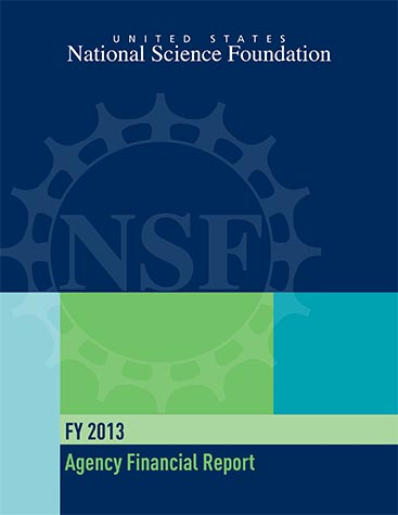 National Science Foundation FY 2013 Agency Financial Report Cover